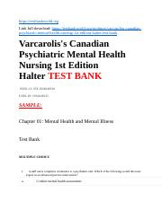 Varcarolis S Canadian Psychiatric Mental Health Nursing 1st Edition