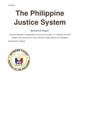The Philippine Justice System
