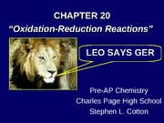 Oxidation-Reduction Reactions[1]