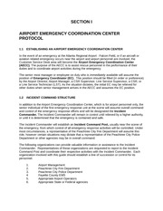 Airport Emergency Coordination Center Study Guide