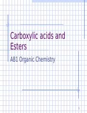 Lecture 8 Carboxylic acids and Esters.ppt