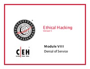 CEH v5 Module 08 Denial of Service