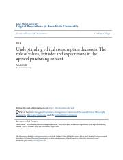 Understanding ethical consumption decisions_ The role of values