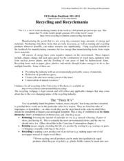 Chapter 02 - Recycling and Recyclemania