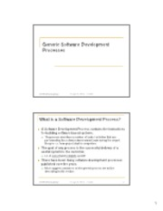 02 Generic Software Engineering Process
