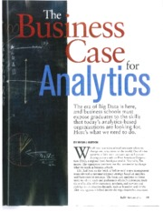 The Business Case for Analytics