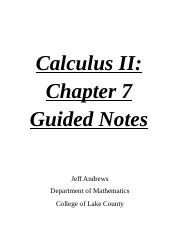 Ch. 7 Guided Notes - Calc 2