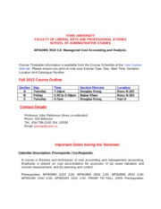 3510 Fall 2013 Course Outline (revised Aug 28 2013)