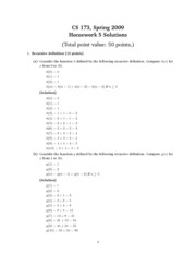 Homework 5 Problem Set Solution