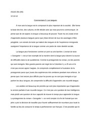 Essay Commentaire 3