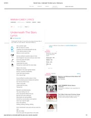 Mariah Carey - Underneath The Stars Lyrics _ MetroLyrics