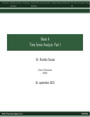 Lecture 9 Time Series- Part I 2015.pdf