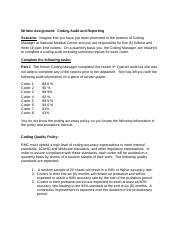 3assignment Coding Audit Worksheet Docx Module 03