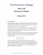 MECN430 Homework 5 Winter 2017 Solutions