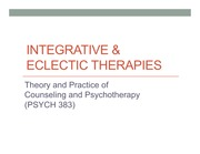 PSYCH 383_integrative  eclectic therapies_slides