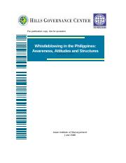 Whistleblowing in the Philippines (1)