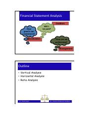 Lecture Financial Statement Analysis (RATIOS)