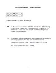 Solutions for Chapter 7 Practice Problems