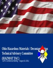 Hazmat TAC Lecture for LEPC Conference 2011