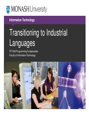 Lecture 11b Transitioning to Industrial Languages.pdf