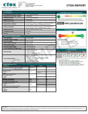 CTOS-Company-Report-Sample pdf - Strictly Confidential Report No CM
