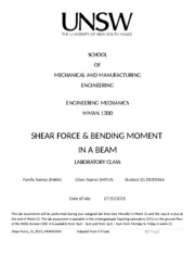shear force experiment report