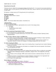 Study Guide for Exam #2 MGMT 648 R3 2015 Rev 0815x