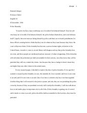 final police brutality research paper