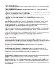 Beowulf Webquest 2pdf Part 1 Intro To Beowulf 1 What