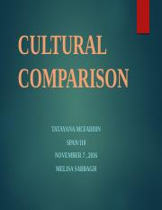 SPAN 110 Week 5 Team Assignment Cultural Comparison.ppp