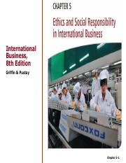 Chapter 5-1 Ethics and Social Responsibility in International Business