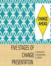 Five Stages of Change Presentation Nov.30