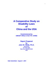 Wilde (2001)_Comparative study on dsiability laws in China and US