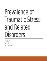 FA2017_PSY2083_3_Prevalence of Traumatic Stress and Related Disorders_v2.2_handout.ppt