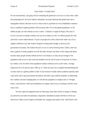 2007 Clean Water Documentary Proposal Essay