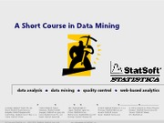 ShortCourseInDataMining