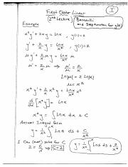 First Order 2nd Lecture (Bernoulli)