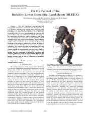 On the Control of the Berkeley Lower Extremity Exoskeleton (BLEEX).pdf
