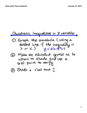 Graphing Quadratic Inequalities in Two Variables