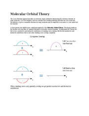 Lecture Note - Molecular Orbital Theory