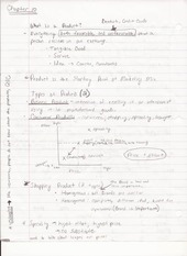 BUS ADM 322 Lecture Notes on What is a Product