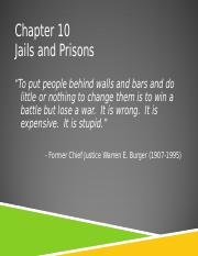 Chapter 10 - Jails and Prisons