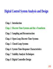 ch2_Discrete Time System and the z-Transform