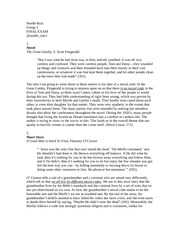 English 220 Final Exam Assignment - Novel, Short Story, and Poetry Reflections