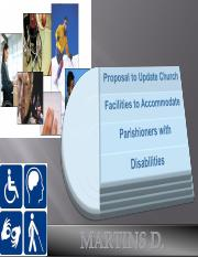 Proposal to Update Church Facilities to Accommodate Parishioners with Disabilities..ppt