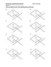 7. Diamond Puzzles and Factoring