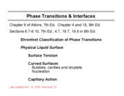11 Phase Transitions and Surfaces