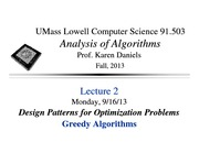 Lecture Notes A on Analysis of Algorithms