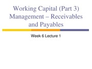 4 Stud Working Capital Management - Rec and Pay
