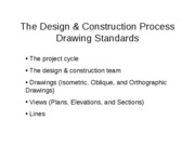 Lecture 1 - The Design & Construction Process - Drawing Standards